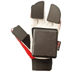 Lush Freeride Slide Gloves - Red